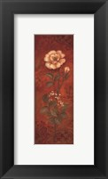 Rose with Baby's Breath - petite Framed Print