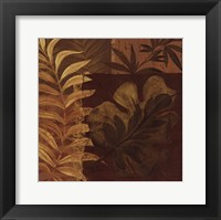 Tropical Foliage I - mini Framed Print