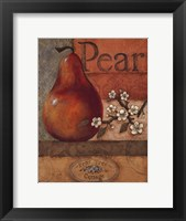 Pear Crate - mini Framed Print