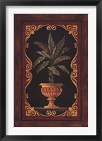 Golden Palm Framed Print