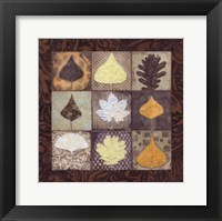 Framed Leaf Mosaic II