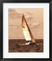 Weekend Sail II Framed Print
