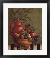 Framed Fresco Fruit I