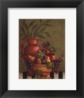 Framed Fresco Fruit I - mini
