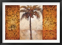Sunset Palms I Framed Print
