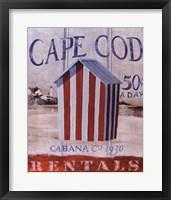Framed Cape Cod Cabana