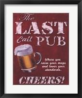 Last Call Pub Framed Print