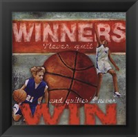 Winners - Basketball Framed Print
