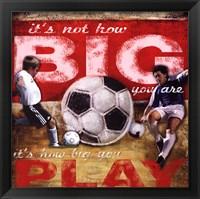 Framed Big Play - Soccer