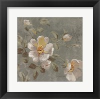 Roses on Blue II Framed Print