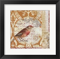 Bird Collage Study I Framed Print