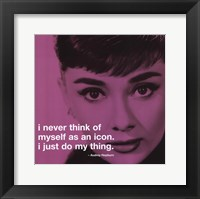 Framed Audrey Hepburn - iPhilosophy - Icon