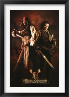Framed Pirates of the Caribbean - Jack and Will