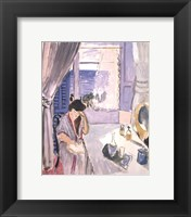 Framed Woman Reading at a Dressing Table, late 1919