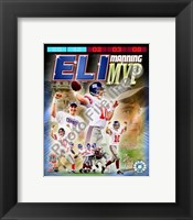 Framed Eli Manning SuperBowl XLII MVP Portrait Plus