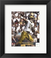 Framed Tom Brady University of Michican Wolverines 1998 Action