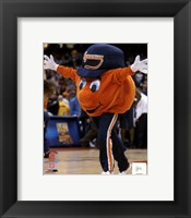 Framed Otto the Syracuse Orangemen Mascot 2004