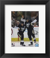 Framed Sidney Crosby &  Evgeni Malkin 2007-08 Action