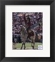 Framed Florida State University - Chief Osceola the Seminoles Mascot, 2006