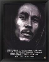 Framed Bob Marley Get Up Stand Up