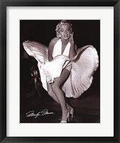 Framed Marilyn Monroe - Seven Year Itch