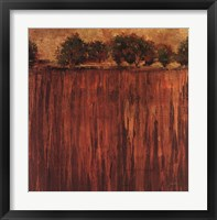 Horizon Line with Trees II Framed Print