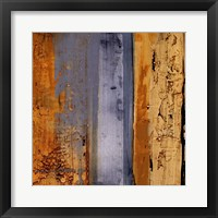 Framed Ochre, Blue Overlay II