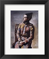 Framed Portrait of a Harlequin
