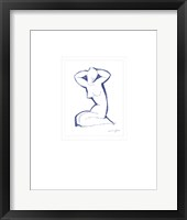 Framed Nude Seated on Both Legs