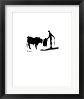 Framed Bull Fighter
