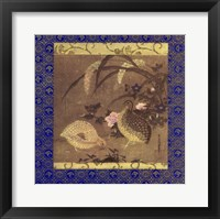 Framed Quails and Flowers