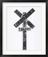 Framed Railroad Crossing