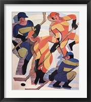 Framed Hockey Players