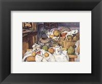 Framed Still Life with Fruit Basket