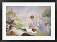 Framed Bathers at Asnieres