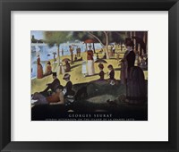Framed Sunday Afternoon on the Island of La Grande Jatte, c.1886
