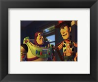 Framed Buzz Lightyear and Woody