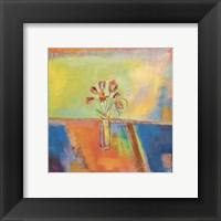 Una Flor Framed Print