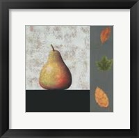 Framed Pear and Leaves
