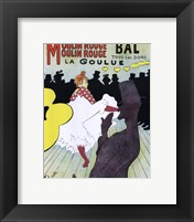 Framed Poster, Moulin Rouge, 1891