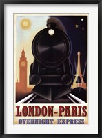 Framed London-Paris Overnight Express