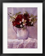 Arrangement in White II Framed Print