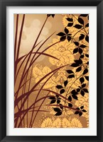 Golden Flourish I Framed Print
