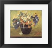 Framed Vase of Flowers, 1896