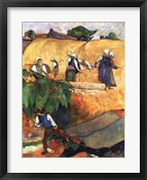 Framed Harvest Scene