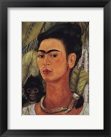 Framed Self-Portrait with Monkey, 1938