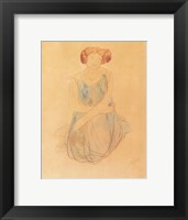 Framed Seated Woman in a Dress, after 1900