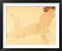 Framed Femme nue allongee sur le ventre (serigraph)