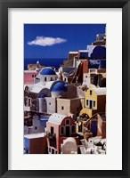 Framed Pastel Village