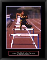 Framed Goals - Runner Jumping Hurdles